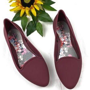 Crocs EVE Pink Ballet Flats Pointy Toe